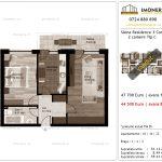 Apartamente de vanzare Siena Residence 3-Corp 2-2 camere tip C-V