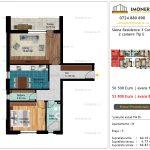 Apartamente de vanzare Siena Residence 3-Corp 2-2 camere tip E