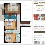 Apartamente de vanzare Siena Residence 3-Corp 2-3 camere tip A
