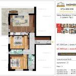 Apartamente de vanzare Siena Residence 3-Corp 2-3 camere tip C