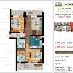 Apartamente de vanzare Siena Residence 3-Corp 2-3 camere tip D