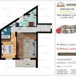 Apartamente de vanzare Siena Residence 3-Corp 3-2 camere tip B