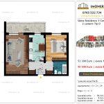 Apartamente de vanzare Siena Residence 3-Corp 3-2 camere tip D