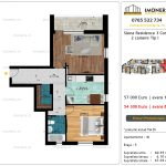 Apartamente de vanzare Siena Residence 3-Corp 3-2 camere tip I