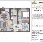 Apartamente de vanzare Titan - Malva Residential 1 -2 camere tip E