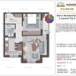 Apartamente de vanzare Titan - Malva Residential 1 -2 camere tip G