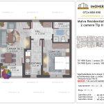 Apartamente de vanzare Titan - Malva Residential 1 -2 camere tip H