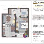 Apartamente de vanzare Titan - Malva Residential 1 - studio tip B