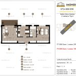 Apartamente de vanzare Delta View Homes-2 camere tip A'