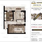 Apartamente de vanzare Siena Residence 3-Corp 1-2 camere tip D