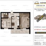 Apartamente de vanzare Siena Residence 3-Corp 3-2 camere tip A