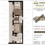 Apartamente de vanzare Siena Residence 3-Corp 3-Studio tip B