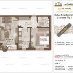 Apartamente de vanzare Titan - Malva Residential 1 -2 camere tip I