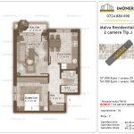 Apartamente de vanzare Titan - Malva Residential 1 -2 camere tip J