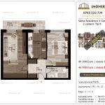 Apartamente de vanzare Siena Residence 3-Corp 1-2 camere tip B