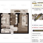 Apartamente de vanzare Siena Residence 3-Corp 1-2 camere tip C