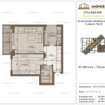 Apartamente de vanzare Brancoveanu Residence 10 -2 camere tip B'-v