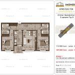 Apartamente de vanzare Dristor Residential 3 -3 camere tip D