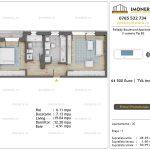 Apartamente de vanzare Pallady Boulevard Apartments -2 camere tip B2