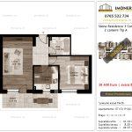 Apartamente de vanzare Siena Residence 3-Corp 1-2 camere tip A