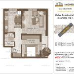 Apartamente de vanzare Titan - Malva Residential 1 -2 camere tip F