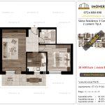 Apartamente de vanzare Siena Residence 3-Corp 2-2 camere tip A