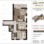 Apartamente de vanzare Siena Residence 3-Corp 3-3 camere tip C