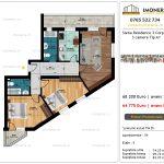 Apartamente de vanzare Siena Residence 3-Corp 4-sc1-3 camere tip A1