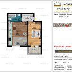 Apartamente de vanzare Siena Residence 3-Corp 4-sc1-Studio tip A1
