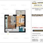 Apartamente de vanzare Siena Residence 3-Corp 4-sc1-Studio tip C1
