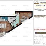 Apartamente de vanzare Siena Residence 3-Corp 4-sc1-Studio tip D1