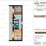 Apartamente de vanzare Siena Residence 3-Corp 4-sc1-Studio tip E1