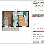 Apartamente de vanzare Siena Residence 3-Corp 4-sc2- 2 camere tip A2