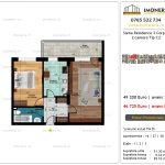 Apartamente de vanzare Siena Residence 3-Corp 4-sc2- 2 camere tip C2