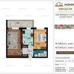 Apartamente de vanzare Siena Residence 3-Corp 4-sc2- 2 camere tip D2