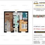 Apartamente de vanzare Siena Residence 3-Corp 4-sc2- 2 camere tip F2