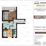 Apartamente de vanzare Siena Residence 3-Corp 4-sc2- 2 camere tip G2