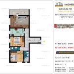 Apartamente de vanzare Siena Residence 3-Corp 4-sc2- 3 camere tip A2