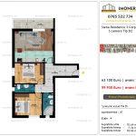 Apartamente de vanzare Siena Residence 3-Corp 4-sc2- 3 camere tip B2