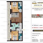 Apartamente de vanzare Siena Residence 3-Corp 4-sc2- 3 camere tip C2