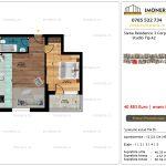 Apartamente de vanzare Siena Residence 3-Corp 4-sc2- Studio tip A2