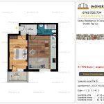 Apartamente de vanzare Siena Residence 3-Corp 4-sc2- Studio tip C2
