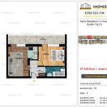 Apartamente de vanzare Siena Residence 3-Corp 4-sc2- Studio tip F2