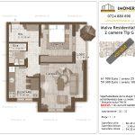 Apartamente de vanzare Titan - Malva Residential 1 -2 camere tip G-v