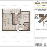Apartamente de vanzare Brancoveanu Residence 12 -2 camere tip A-v