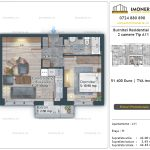 Apartamente de vanzare Burnitei Residential 4 -2 camere tip A11