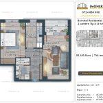 Apartamente de vanzare Burnitei Residential 4 -2 camere tip A13-19