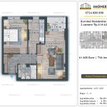 Apartamente de vanzare Burnitei Residential 4 -2 camere tip A14-20