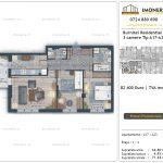 Apartamente de vanzare Burnitei Residential 4 -2 camere tip A17-23
