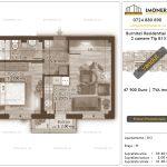 Apartamente de vanzare Burnitei Residential 4 -2 camere tip B13